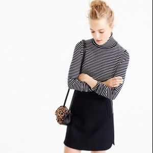 J.crew Mini skirt double-serge wool 6 black #F8325